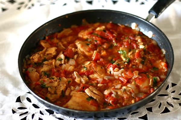 Georgian Chicken with Herbs (Chakhokhbili) | AZ Cookbook