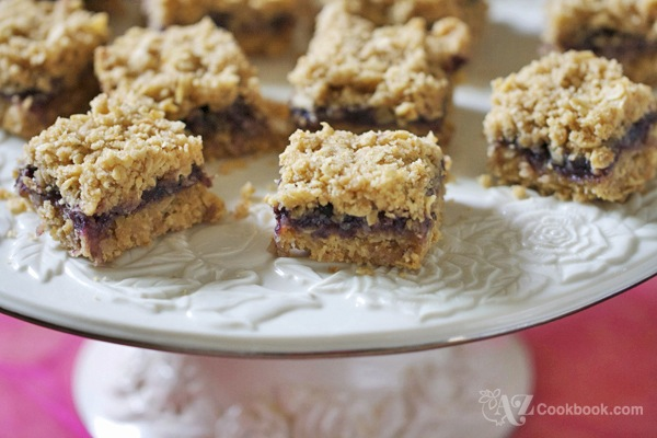 Blueberry-Oatmeal Crunch Squares