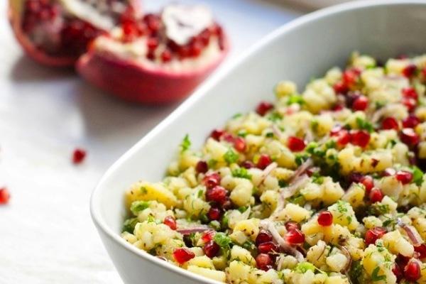 Göyərtili-Narlı Kartof Salatı