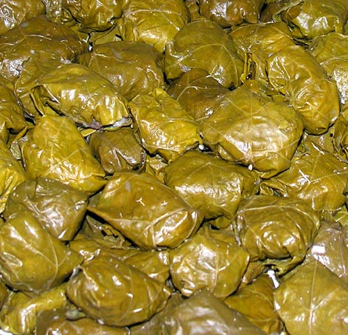 AZ Cookbook | Stuffed Grape Leaves Layered Dolma