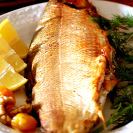 Baked Fish Stuffed with Walnuts (Balig Levengi)