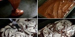 AZ Cookbook is 2 + Cream Cheese-Swirled Brownies