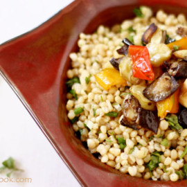 Wheat Berry Salad with Roasted Vegetables