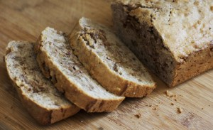 spiced banana walnut bread