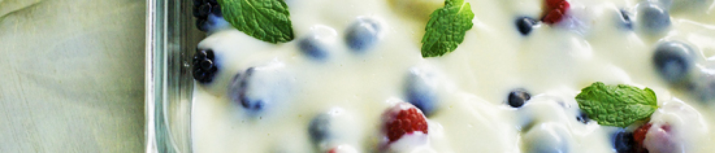 Banana and Berries with Cream