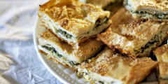 Turkish Spinach Pie or Cheese Pie (Borek)
