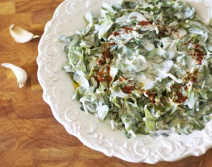 Purslane Salad with Yogurt Dressing