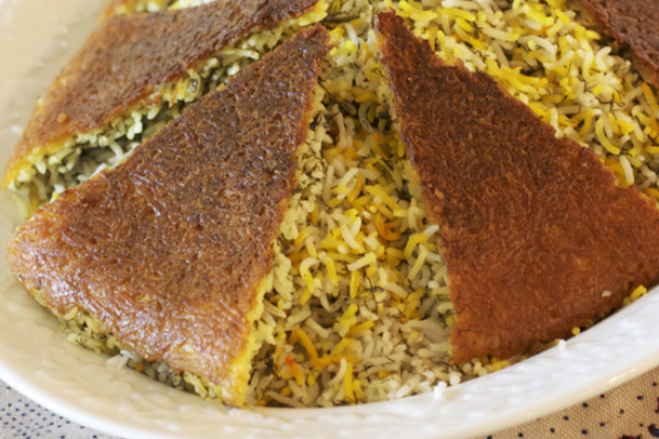 Golden Rice Crust for under Rice Pilaf