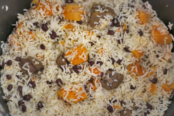 Rice Pilaf with Butternut Squash and Beans