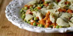 Artichoke Salad with Carrots and Green Peas