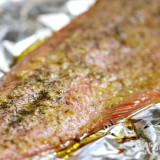 Baked Lemon-Garlic Steelhead Trout