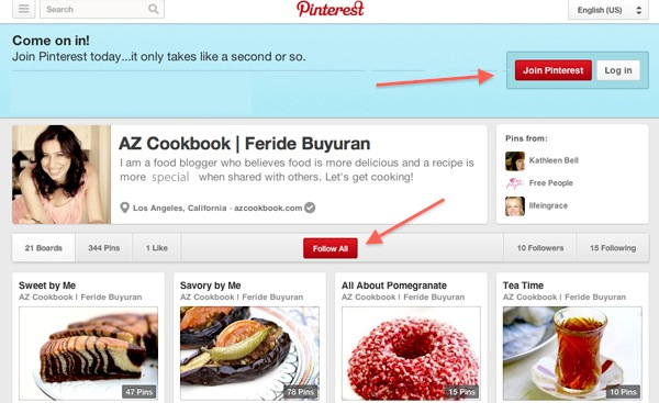 AZ Cookbook on Pinterest