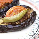 "Turkish ""Split-Belly"" Stuffed Eggplant"