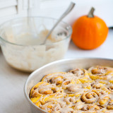 Pumpkin-Pecan Rolls with Maple Glaze