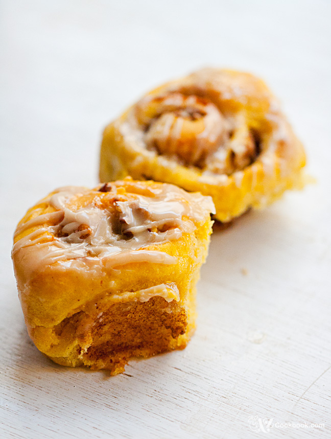 Pumpkin Pecan Rolls with Maple Glaze