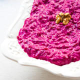 Garlicky Beet Salad with Yogurt and Walnuts