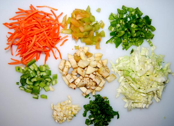 AZ Cookbook | Pickled Mixed Vegetable - Ingredients