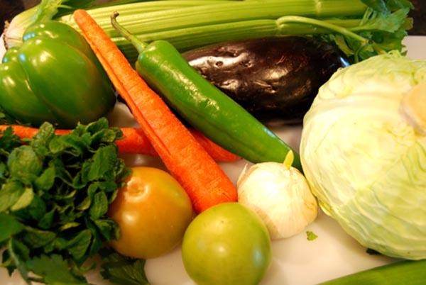 AZ Cookbook | Mixed Vegetable Pickle - Vegetables