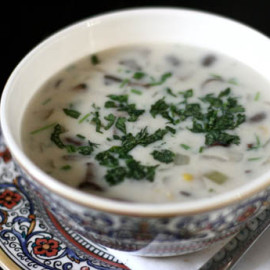 Creamy Mushroom Soup with Fresh Herbs