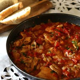 Georgian Chicken with Herbs (Chakhokhbili)