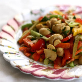 Summer Salad with Marinated Mushrooms