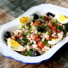 Turkish White Bean Salad (Fasulye Piyazi)