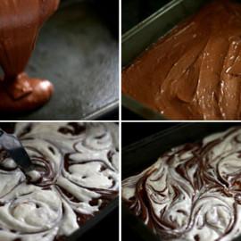 AZ Cookbook is 2 + Cream Cheese-Swirled Brownies