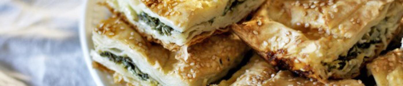 Turkish Spinach or Cheese Pie (Borek)