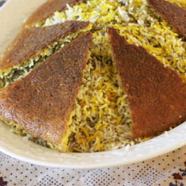 AZ Cookbook | Rice Crust for Under Rice Pilaf