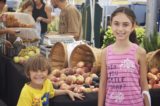 Kids at Larchmont Farmers Market