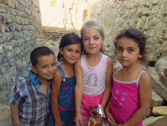 Kids in Ordubad, Azerbaijan