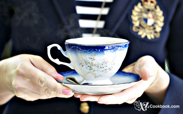Steaming Hot Tea - AZ Cookbook Tea Party
