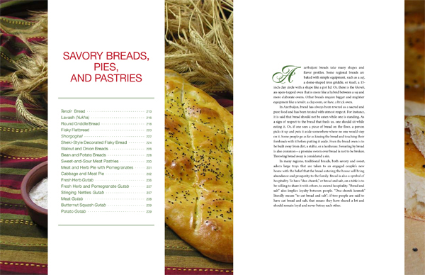 """Pomegranates and Saffron"" - Savory Breads Contents"