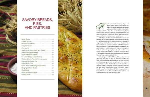 """Pomegranates and Saffron"" - Savory Breads Contents"