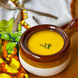 Curried Roasted Butternut Squash Soup