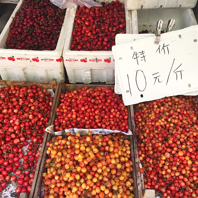 Cherries in Yantai, China